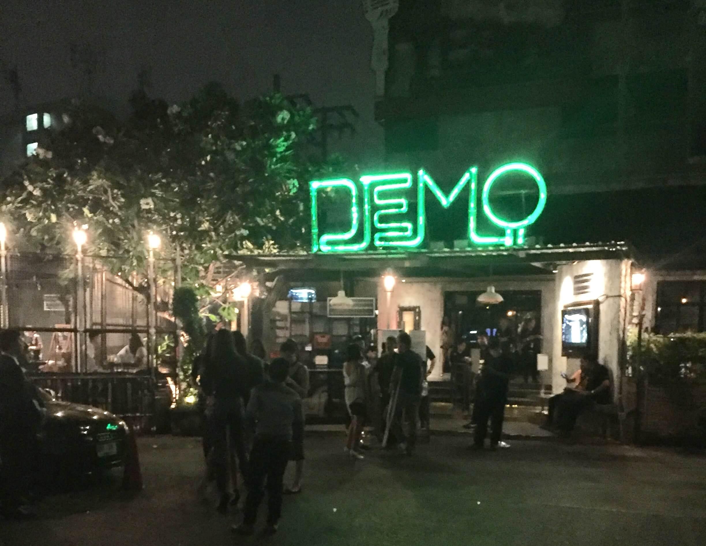 バンコクのクラブDEMOの外観